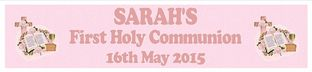 Personalised Girl First Communion Banner Design 2